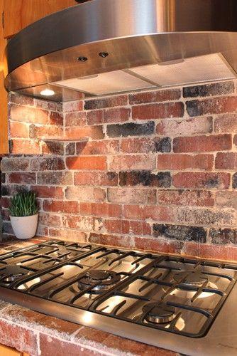 pinterest kitchen backsplash ideas Brick backsplash. green idea: diy kitchen backsplashes | refresheddesigns.sustainable design