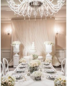 Wedding reception tabletop in  palette of white and ivory designed by scoobie west  also rh fi pinterest