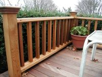 Robust Wood Deck Railing Designs Ideas Deck Rail Design