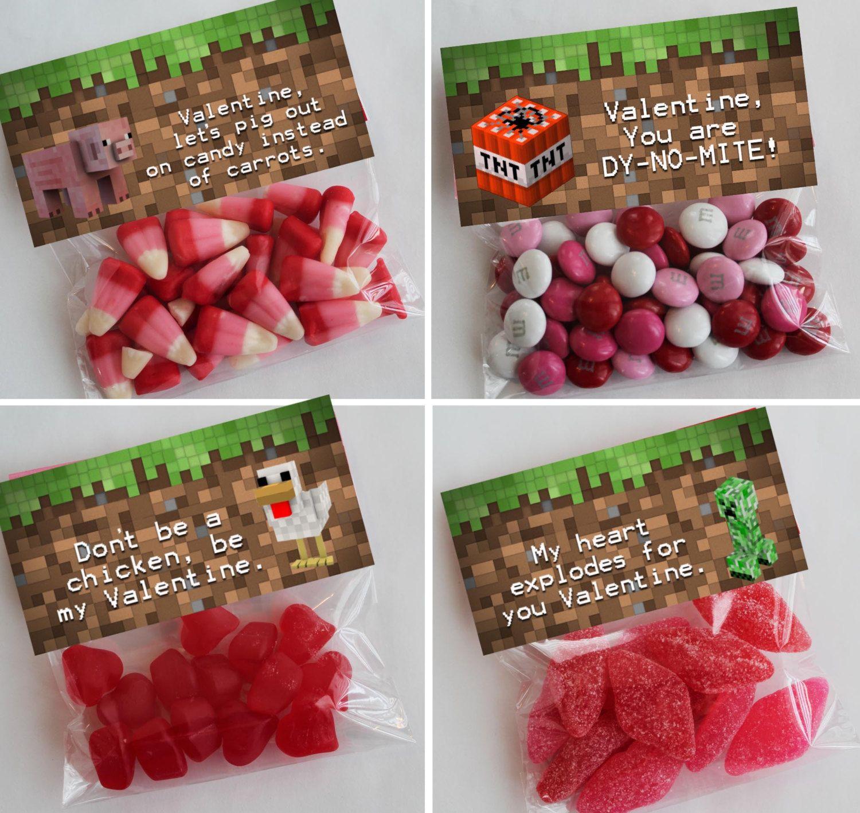 Minecraft Valentines Day Printable Minecraft Valentine