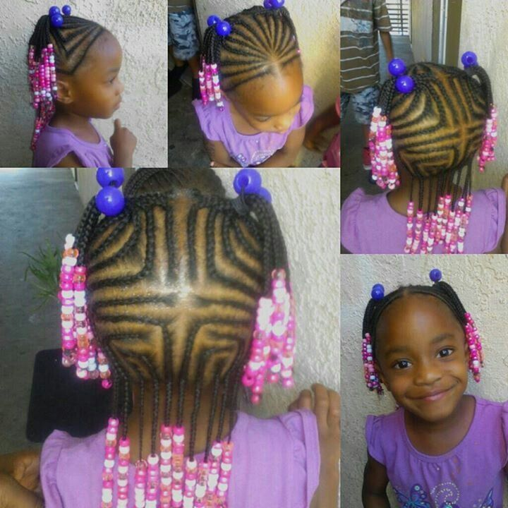 Lil Girl Braids And Beads Google Search Cute Hairstyles For