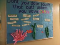 "Finding nemo consent passive bulletin board. "" don't touch"