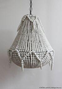 Handmade beaded chandelier, White  Bodie and Fou - Award ...