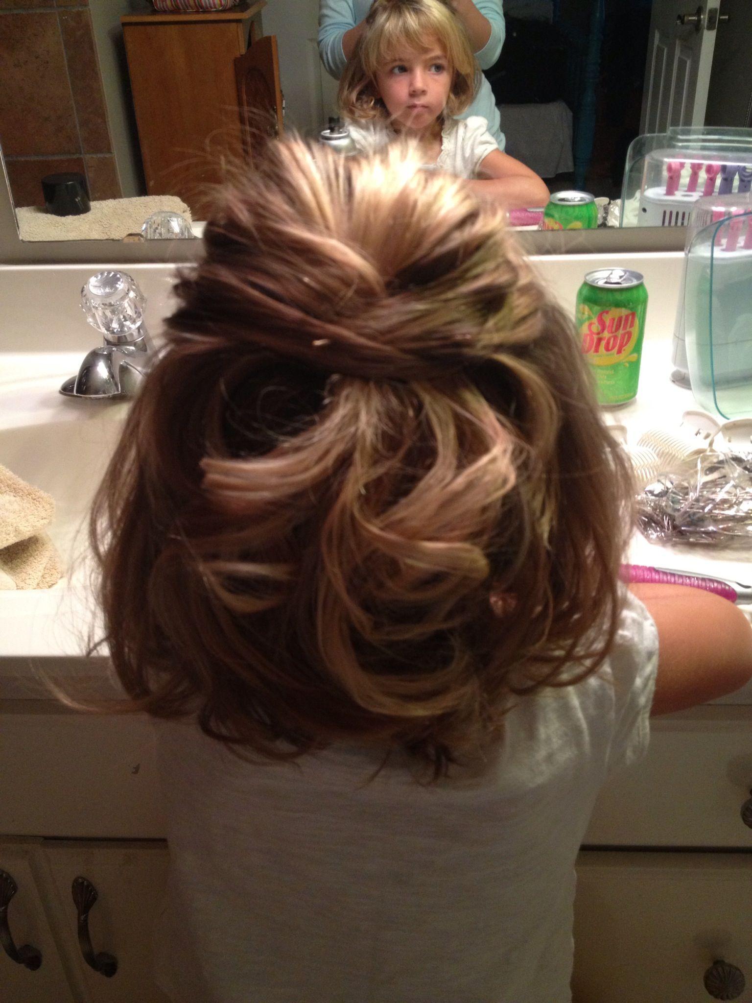 Little girls wedding hair! My niece Annabel loved her