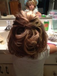 Little girls wedding hair! My niece Annabel loved her ...