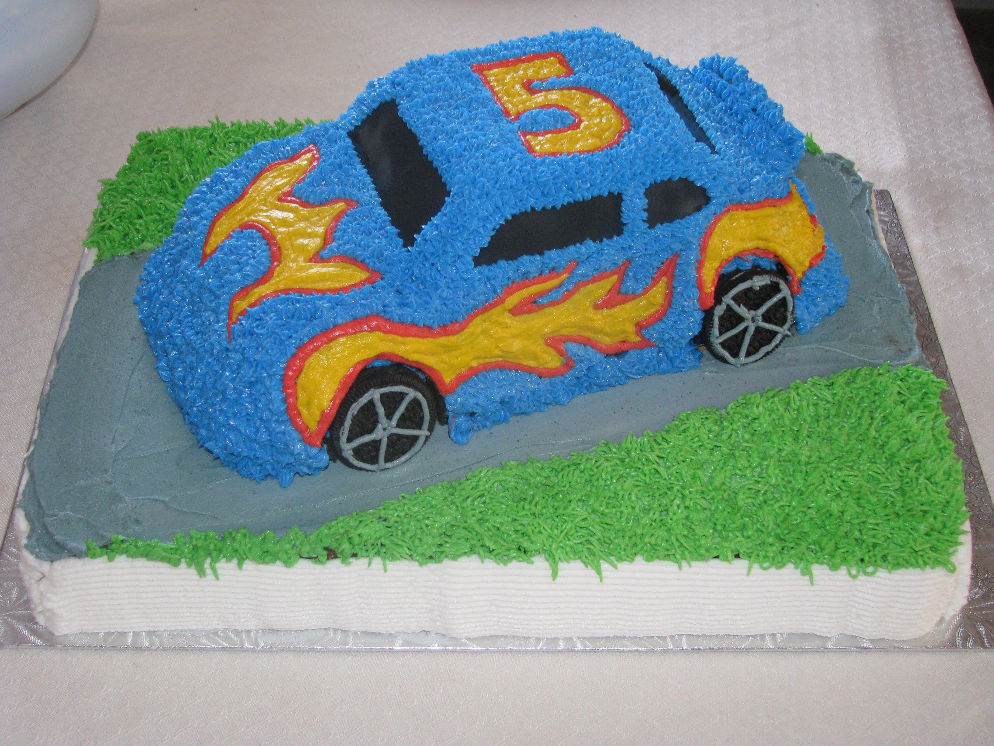 3d Hot Wheels Car Cake