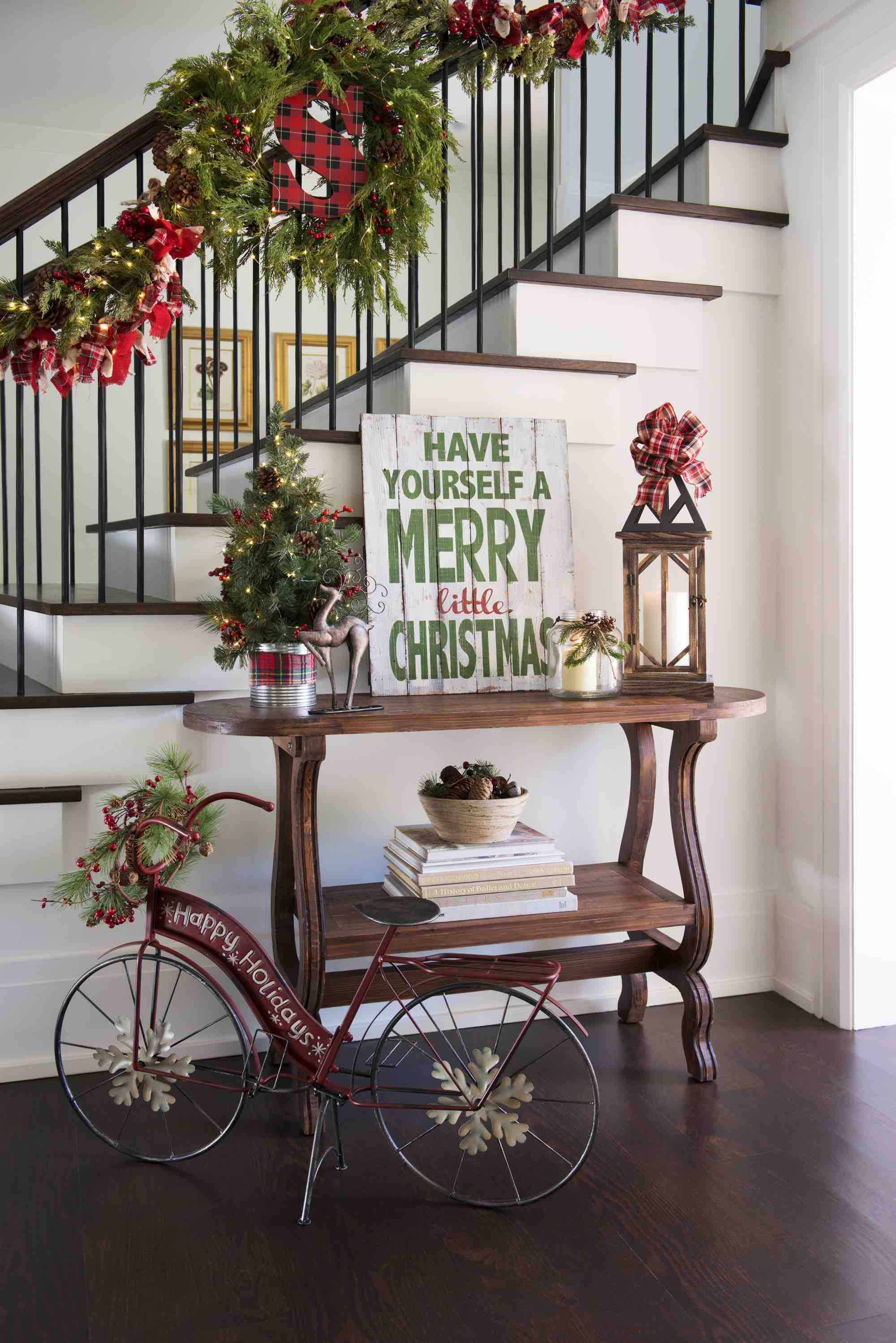 christmas decorating ideas for sofa table company pasadena how to decorate your entryway