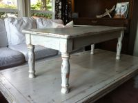Distressed white coffee table | Valley Vintage Market for ...