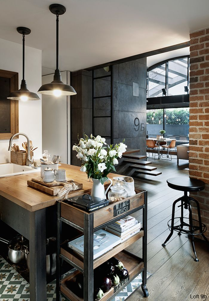 Spectacular Small Attic Apartment  Industrial living