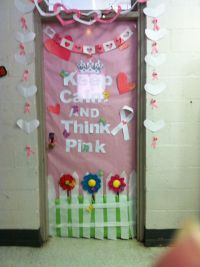 Breast cancer awareness week door decorating contest