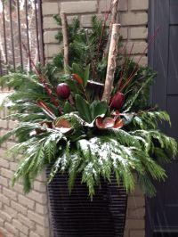 Winter planter | Festive decorating for holidays ...