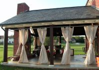 Outdoor patio porch curtains. We made these out of ...