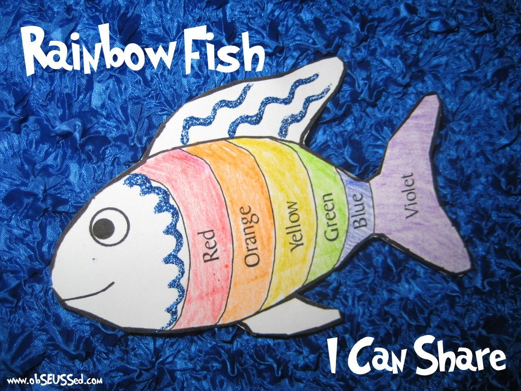 Rainbow Fish Kids Craft Activity To Teach Sharing And Giving