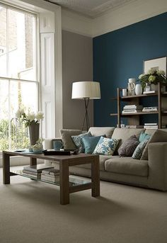 decorating ideas for living rooms blue accent wallsteal also teal walls rh pinterest