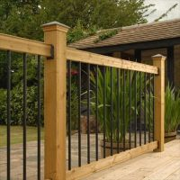 Wood Railing Kits - Traditional Series - Pine - Straight ...