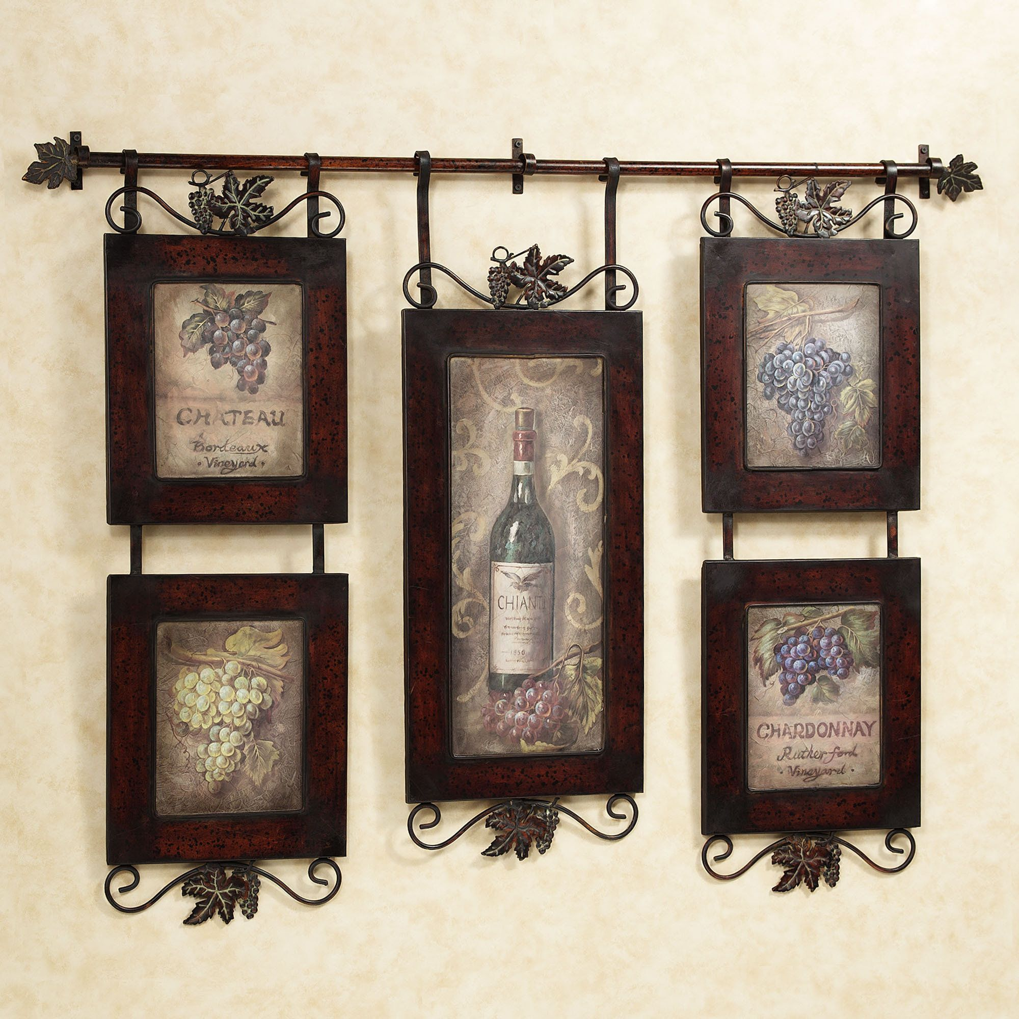 wall decorations for kitchen made mixer emilion wine art decor kitchens and walls