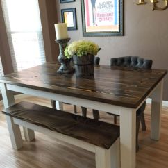 Black Walnut Kitchen Table Tiffany Lighting Solid Wood Farmhouse With Matching Wooden