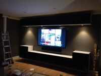 Wall mounted IKEA bestas and under cabinet lights with ...
