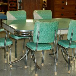 Green Kitchen Chairs Maple Table Chrome Vintage 1950 39s Formica And