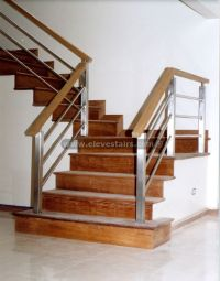 metal and wood railings contemporary