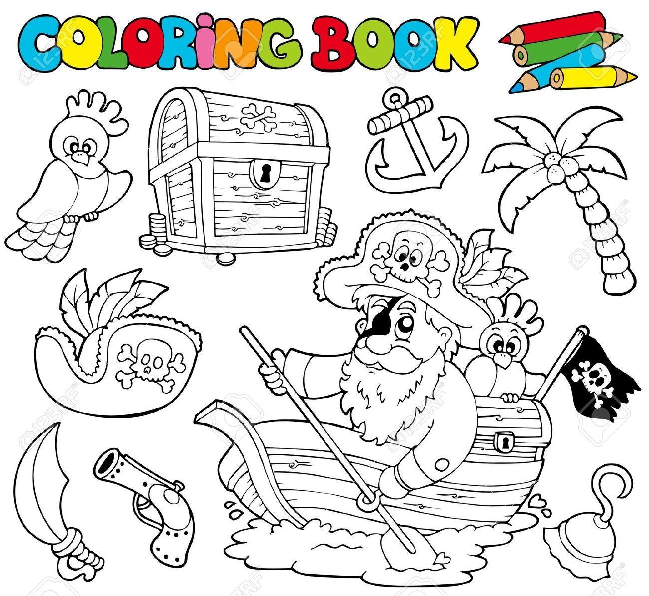 Libro Para Colorear Piratas Animales Y Objetos