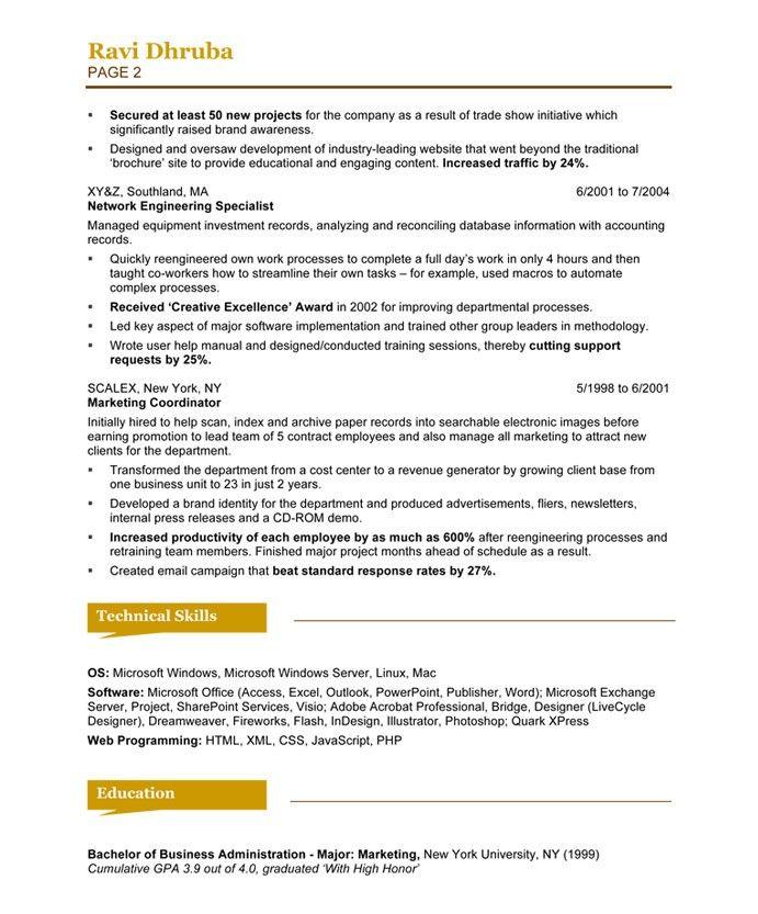 Social Media Specialist Page2 Marketing Resume Samples