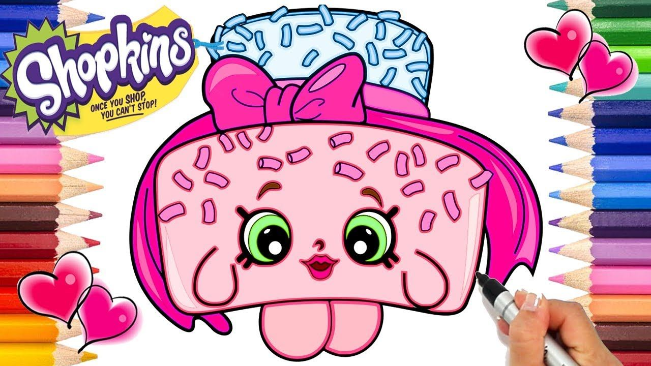 Sprinkle Lee Cake Shopkins Coloring Page Shopkins Coloring Book