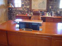 Hidden computer monitor in an executive desk | Office ...
