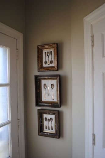 Another idea for our dining room... framed antique