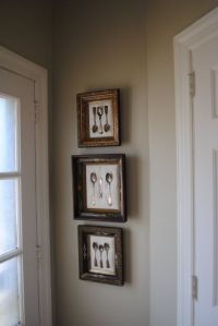 Another idea for our dining room... framed antique ...
