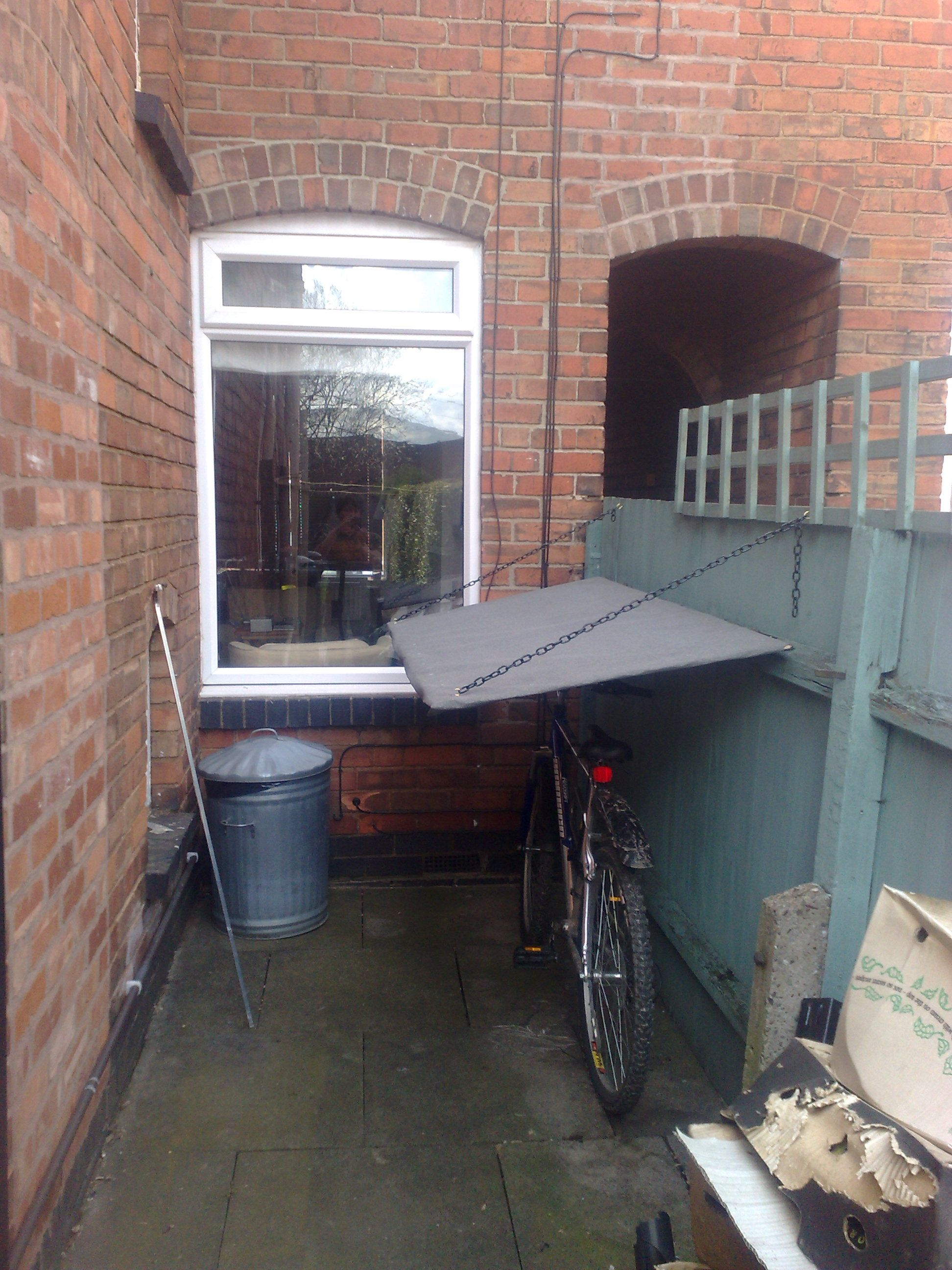 Fold Down Bike Shelter Clever Space Saving By Pete39s