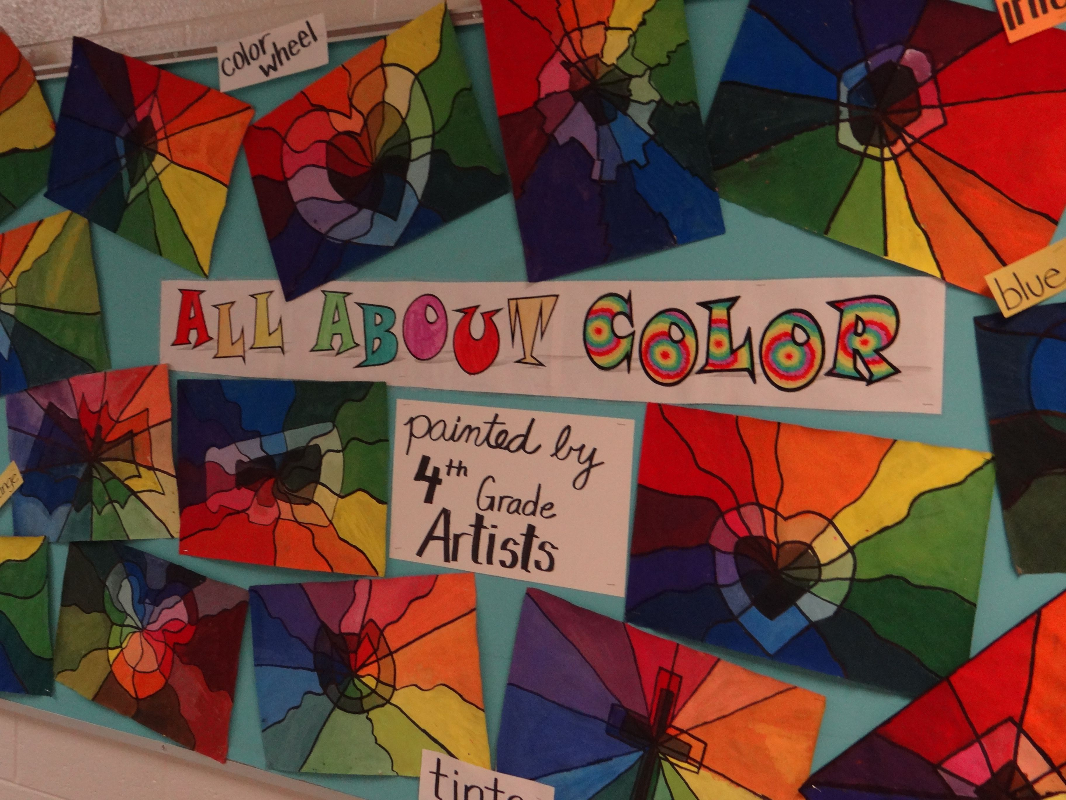 Color Wheel Paintings Using A Shape Symbol With Tints