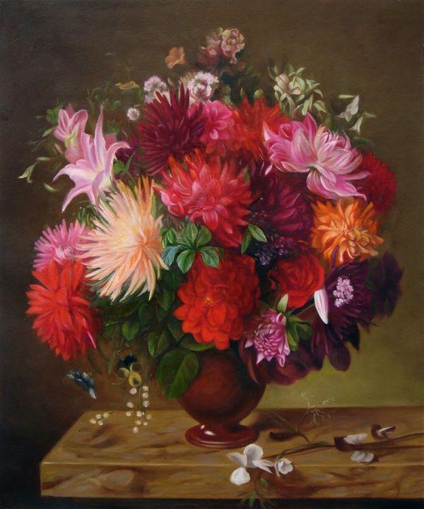 Oil Paintings Of Flowers . Master