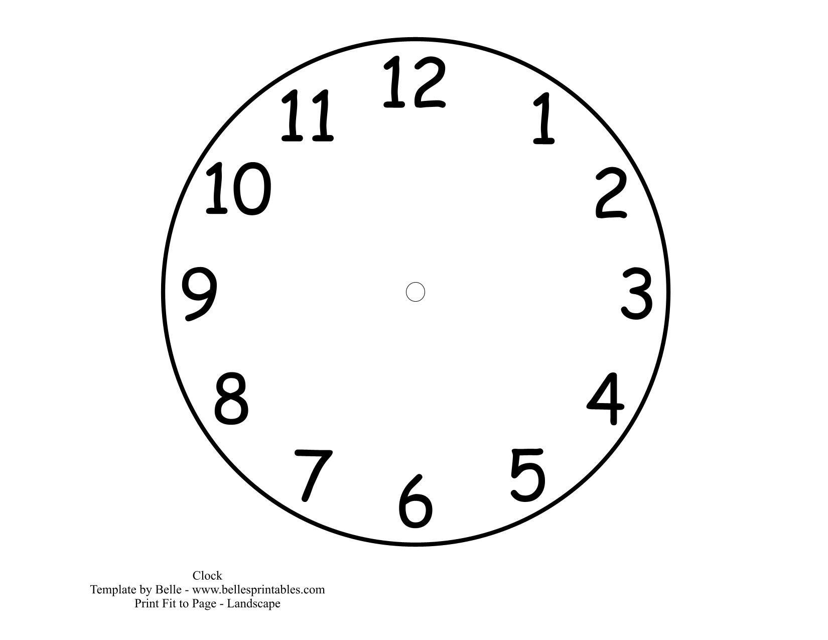 Parts Of A Clock Worksheet Free