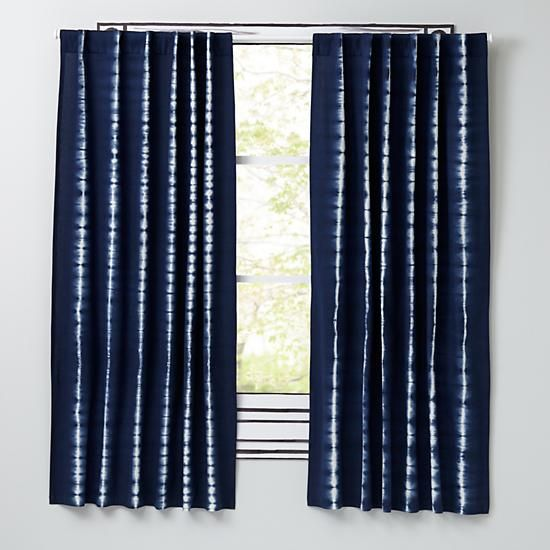 Tie Dye Curtain Panels Blue The Land Of Nod Baby McCormack