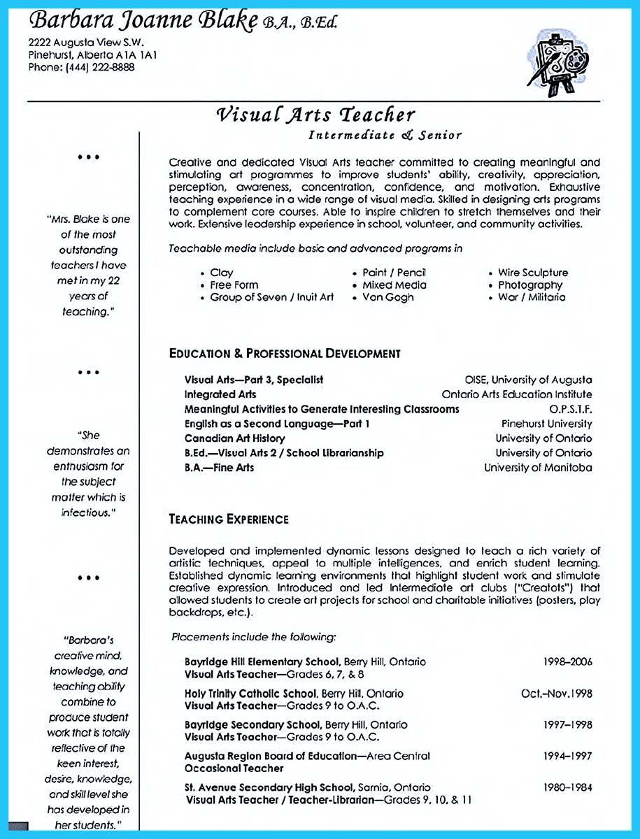 If You Are Seeking A Job As An Art Teacher One Of The