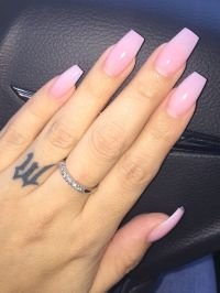 pinterest: @aaasshh Pink powder acrylic with clear gelish ...