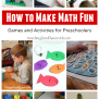 How To Make Math Fun For Preschoolers Math Activities