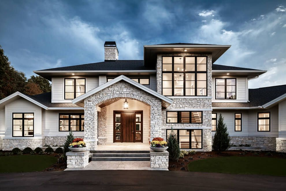 Traditional Meets Contemporary in Sophisticated Michigan Home Fres Home  Traditional