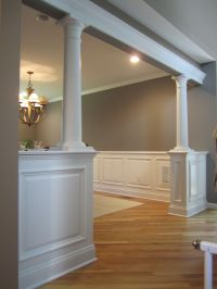 half wall with columns - Bolton CT | Decor ideas ...