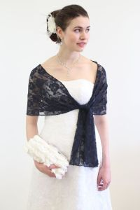 Bridal Lace Shawl Royal Blue, Blue Lace Scarf, Bridal ...