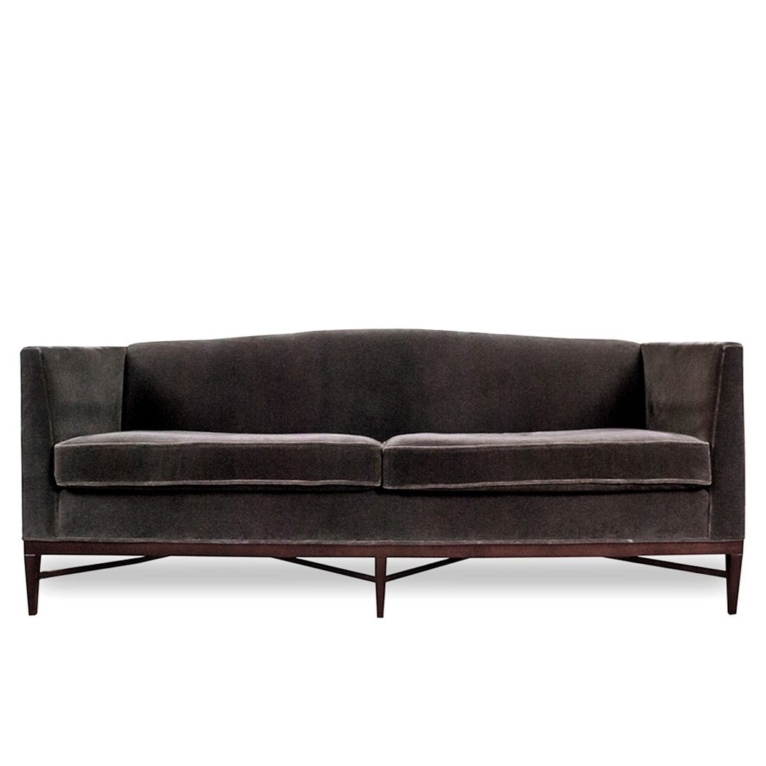 henredon sofa fabrics ashley furniture bed canada modern with robert allen mohair upholstery