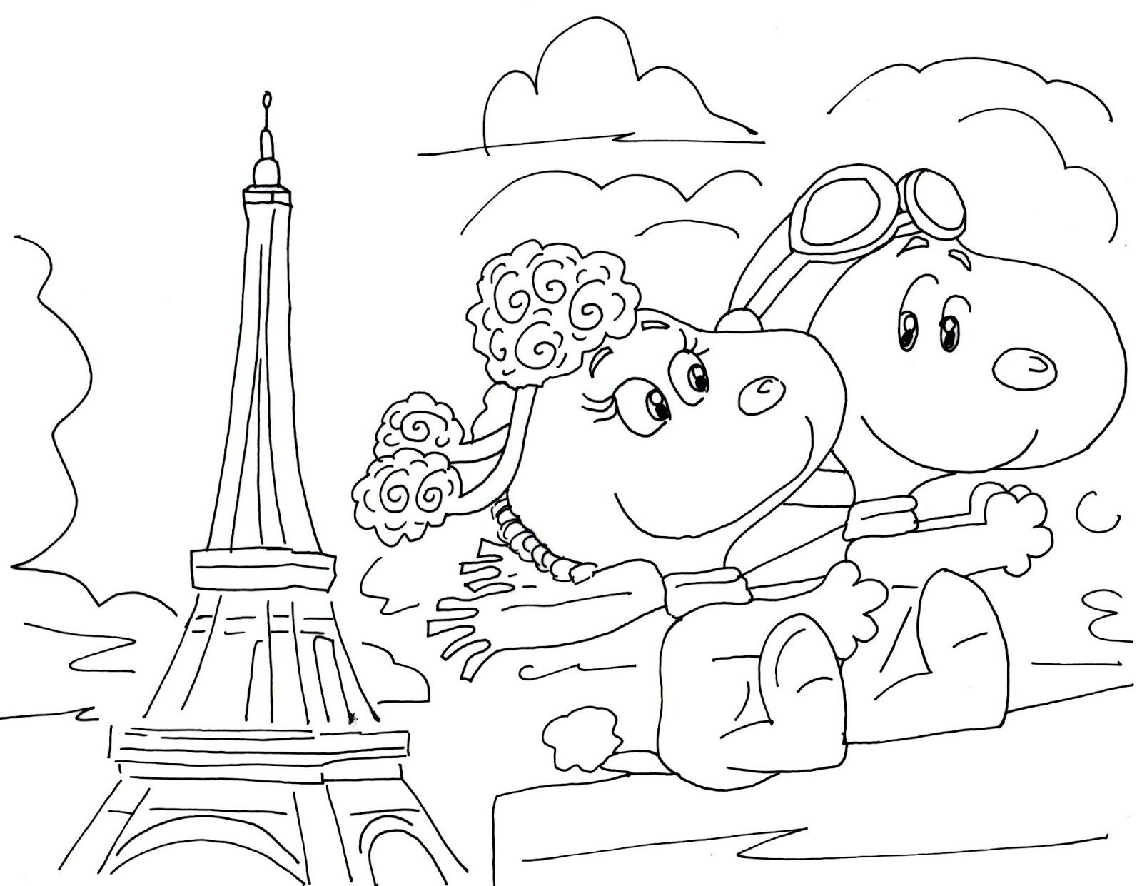 Free Charlie Brown Snoopy and Peanuts Coloring Pages: Fifi