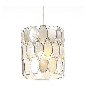 Alluring Capiz Pendant Light Cool Interior Decor With