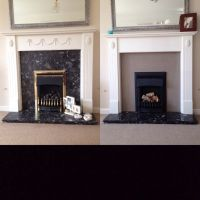 Fireplace upcycle. Annie Sloan French Linen painted onto ...