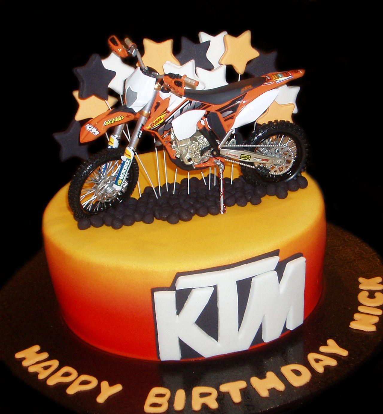Ktm Motorbike Birthday Cake By Nada S Cakes Canberra