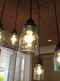 Mason jar light fixture at Bob Evans | Crafts | Pinterest ...