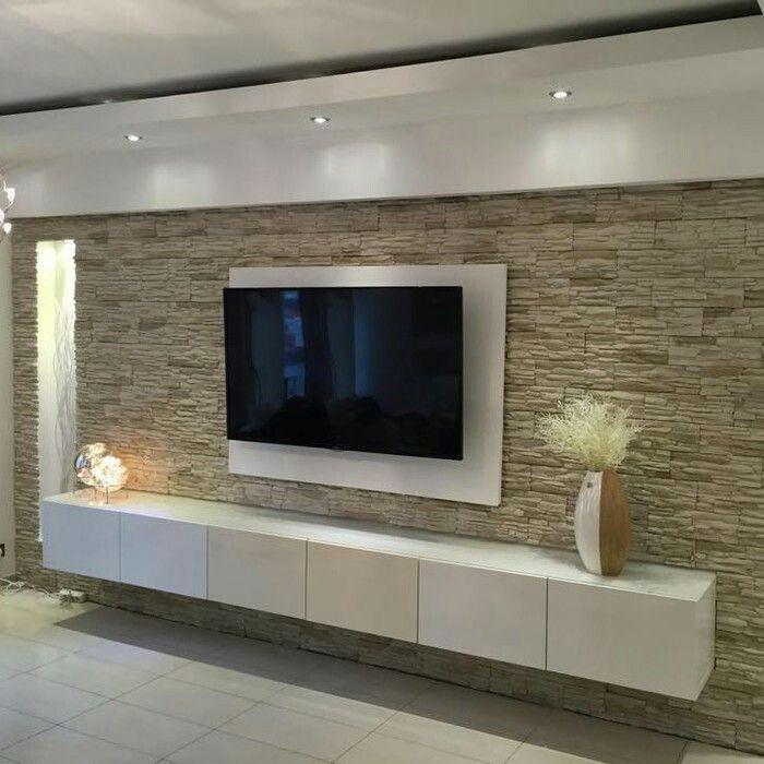 TV Wand  Wohnen  Pinterest  Wohnzimmer Salons und Schlafzimmergestaltung