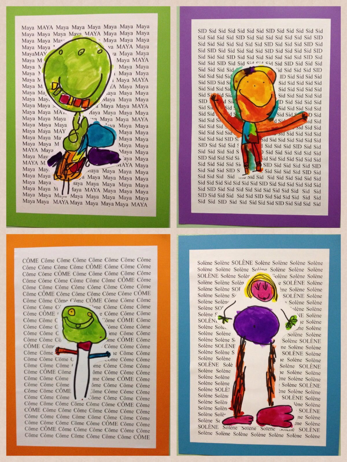 Kindergarten Self Portraits Art Project Love The Name As