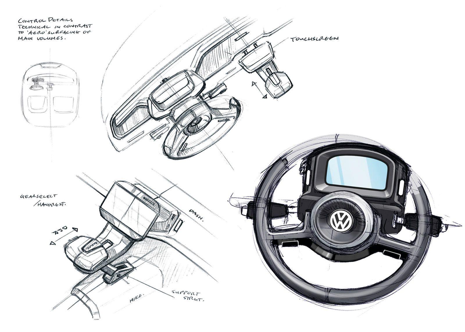 Vw Up Lite Interior Design Sketches